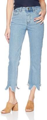 EVIDNT Women's Essen Relaxed RAW Hem Jeans