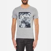 BOSS ORANGE Men's Theon Printed Crew Neck TShirt - Dark Grey