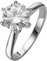 Moissanite 18 Carat White Gold 2 Carat Ring