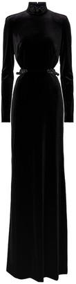 Dundas Embellished velvet gown