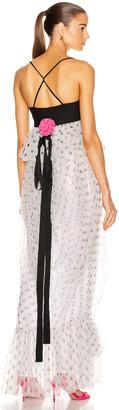 STAUD Petunia Dress in White Dot | FWRD