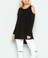 Sweet Pea Black Cutout Sweater