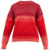 Etoile Isabel Marant Drussell Ombre-stripe Mohair-blend Sweater - Womens - Red Multi
