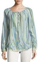 Robert Graham Harley Long-Sleeve Cotton Top