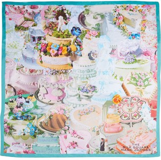 Marc Jacobs The Cake Collage Square scarf