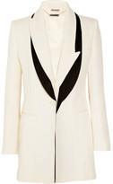 Alexander McQueen Satin-trimmed Wool And Silk-blend Faille Blazer - Ivory