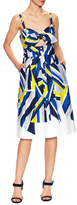 Milly Jordan Cotton Tie A-Line Dress