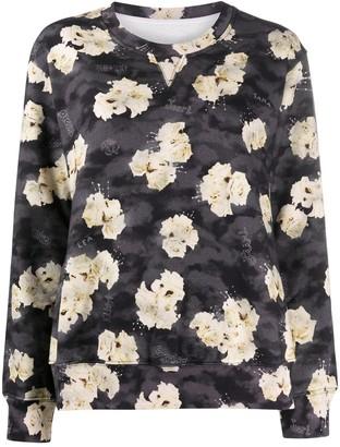 MM6 MAISON MARGIELA Floral Print Sweatshirt