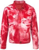 424 Bleach Print Denim Jacket