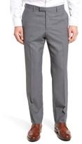 BOSS Men's Leenon Flat Front Check Wool Trousers