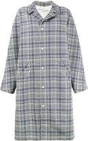 Off-White oversized check coat