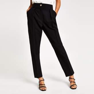 River Island Womens Petite Black peg leg trousers