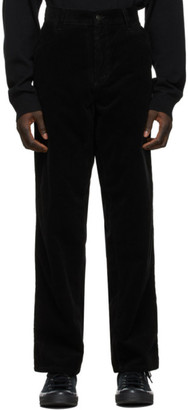 Carhartt Work In Progress Black Corduroy Single Knee Trousers