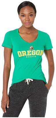 Champion College Oregon Ducks University V-Neck Tee (Kelly Green 4) Women's T Shirt