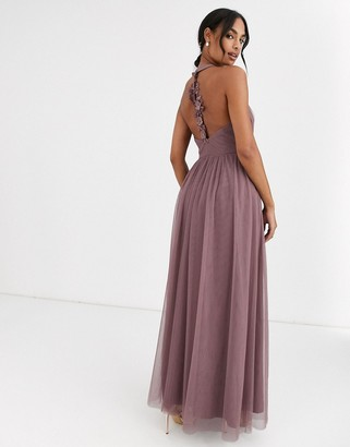 Little Mistress key hole back detail maxi dress