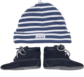 Timberland Baby Boys Classic Crib Bootie With Hat Navy