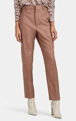 Etoile Isabel Marant Women's Nelson Plain-Weave Wool Slim Trousers - Pink
