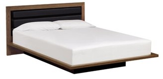 Copeland Furniture Moduluxe Solid Wood and Upholstered Platform Bed Size: Queen, Frame Color: Natural Walnut, Headboard Color: Sisal Fabric