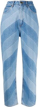 Sandro Paris Diego panelled jeans