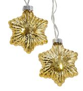 Kurt Adler Gold Finish Star Christmas String Lights