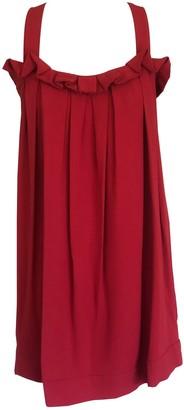 Onelady Tie Short Dress Red - Carol