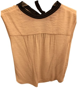 Maje Pink Cotton Top for Women