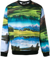 Love Moschino landscape print sweatshirt - men - Cotton - S