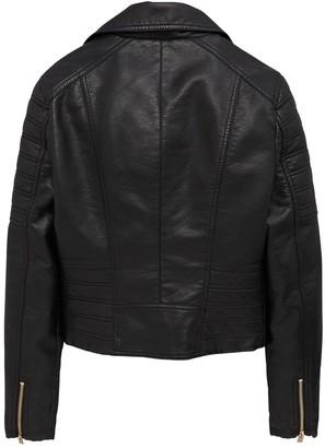 Very Girls Faux Leather Biker Jacket - Black