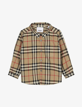 Burberry Vintage check cotton Oxford shirt 6-24 months
