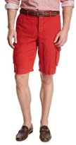 Kiton Linen Cargo Shorts, Red