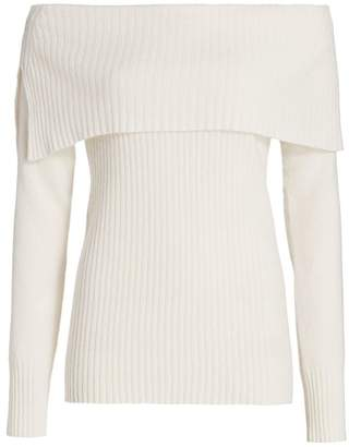 Saks Fifth Avenue Off-The-Shoulder Cashmere Sweater