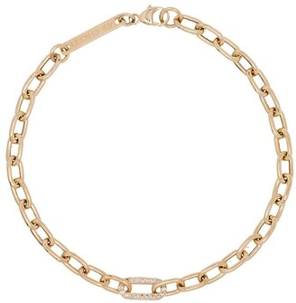 Zoë Chicco 14kt Gold Chain Pave Diamond Bracelet