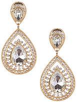 Natasha Accessories Double-Teardrop Statement Earrings