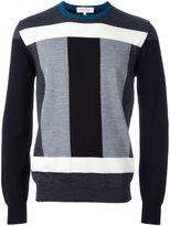 Salvatore Ferragamo colour block jumper