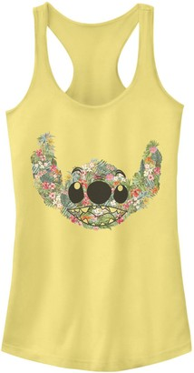Licensed Character Juniors' Disney's Lilo & Stitch Floral Stitch Face Tank Top