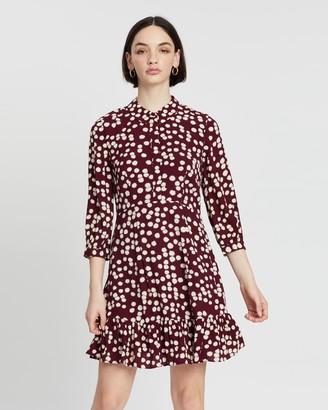 Whistles Agata Illustrated Flower Dress
