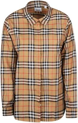Burberry Check Sleeve Straight Shirt