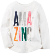 Carter's Long-Sleeve Amazing Graphic-Print T-Shirt, Little Girls (2-6X)