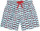 Vilebrequin Fish Print Swim Shorts, Blue, 6YEARS
