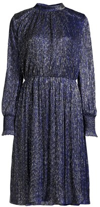 Sachin + Babi Catherine High-Neck Metallic Dress