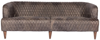 Moe's Home Collection Magdelan Tufted Leather Sofa, Antique Ebony