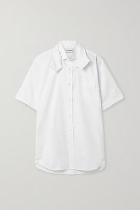 Situationist Cotton-poplin Shirt - White