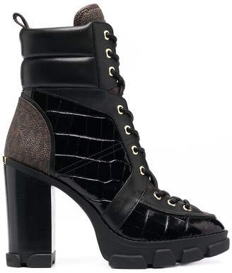 MICHAEL Michael Kors Ridley 110 mm lace-up leather boots