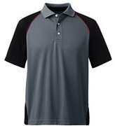 Classic Men's Colorblock Active Polo Shirt-Dark Cedar Tweed
