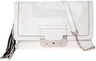 Diane von Furstenberg White Leather Harper Shoulder Bag
