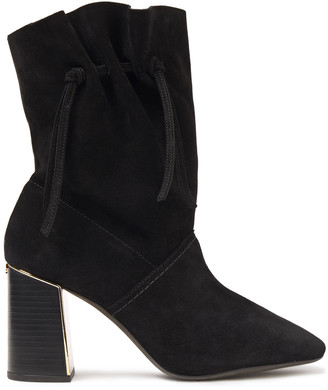 Tory Burch Gigi 85 Knotted Suede Ankle Boots