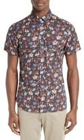 Todd Snyder Men's Slim Fit Floral Print Sport Shirt