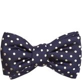 Alexander McQueen Polka-dot jacquard silk bow tie