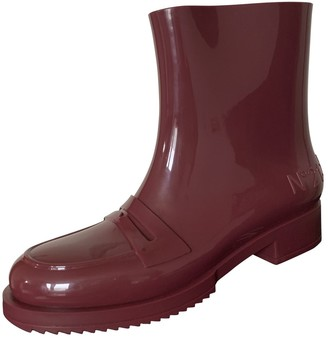 Kartell Burgundy Rubber Ankle boots