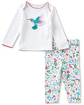 Kate Spade Baby Girls 3-9 Months Hummingbird Top & Printed Pants Pajama Set